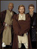 Mace Windu, Obi-Wan Kenobi, and Anakin Skywalker